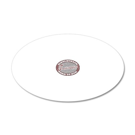 TraillAddict_RunnerG 20x12 Oval Wall Decal