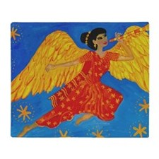 Indian angel cropped for cafepress Throw Blanket