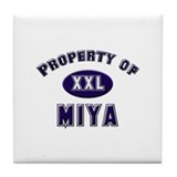 Property of miya Tile Coaster