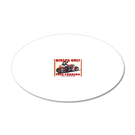 2 20x12 Oval Wall Decal