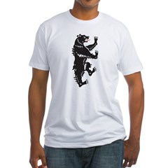 Tribal Bear Fitted T-Shirt