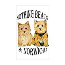 Nothing Beats a Norwich Terri Sticker (Rectangular