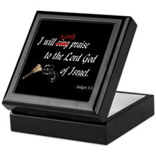Ring Praise Black Keepsake Box