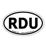 Raleigh, North Carolina Oval Car Sticker