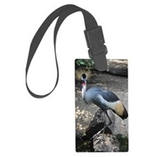Grey Crowned Crane Luggage Tag