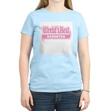 """World's Best Daughter"" Women's Pink T-Shirt"