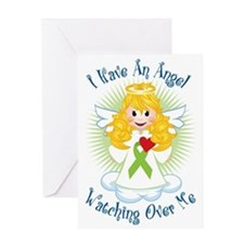 Angel-Watching-Over-Me-Lime-Green-Ri Greeting Card