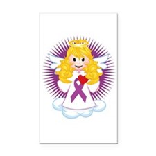 Angel-Watching-Over-Me-Purple Rectangle Car Magnet
