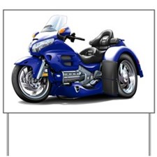 Goldwing GL1800 Dark Blue Trike Yard Sign