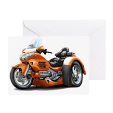 Goldwing GL1800 Orange Trike Greeting Card