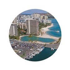 "Ala Wai Yacht HarborWaikiki Beach, Wai 3.5"" Button"