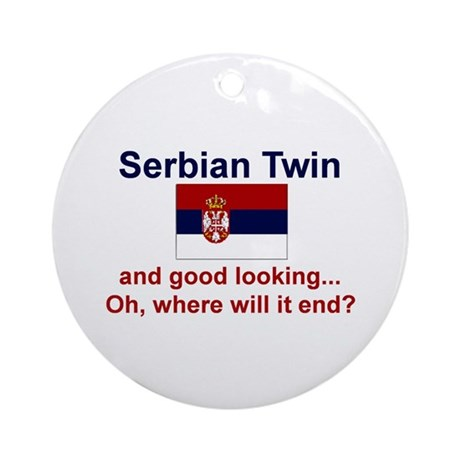 Serbian Twins-Good Lkg Keepsake Ornament