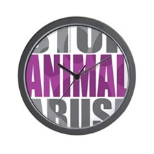Stop-Animal-Abuse-2010 Wall Clock