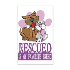 Rescued-Is-My-Favorite-Breed Wall Decal