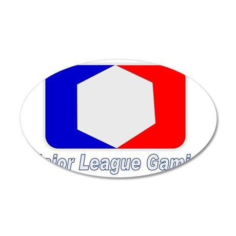 MLG_wht 35x21 Oval Wall Decal