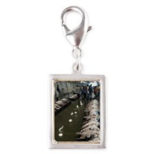 Yellow fin tuna Silver Portrait Charm