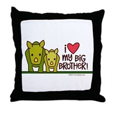 Big Brother Rhino Throw Pillow