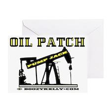 Oil Jack A4dd trsp Greeting Card