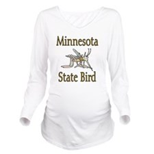 Minnesota State Bird Long Sleeve Maternity T-Shirt