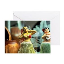 Hula Dolls Hawaii doll Greeting Card