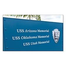 Sign for battleship memorials  Decal