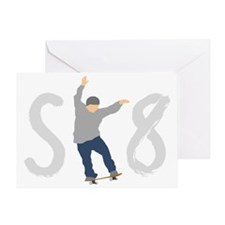 sk8_patinador_1_dark Greeting Card