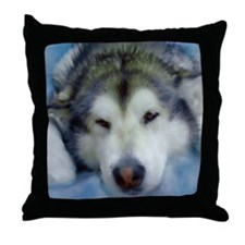 Cute Sled dogs Throw Pillow