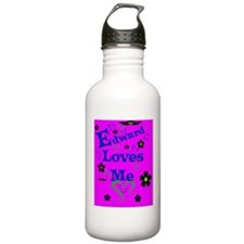 Edward Loves Me443_iph Water Bottle