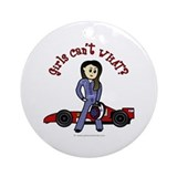 Light Race Car Driver Ornament (Round)