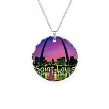 St Louis Necklace Circle Charm