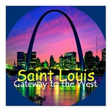 "St Louis Square Car Magnet 3"" x 3"""