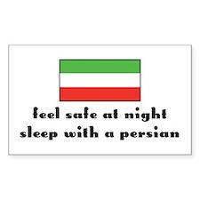 Feel Safe at Night, Sleep w/ a Persian Decal