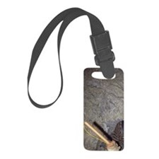 Wallace. Miner holding a stick o Luggage Tag