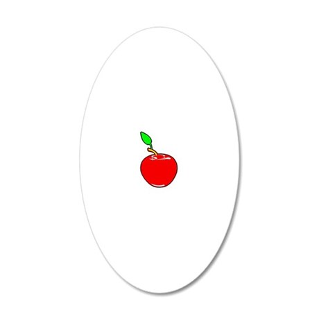 apple red 20x12 Oval Wall Decal