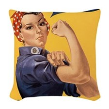 we-can-do-it_ipad Woven Throw Pillow
