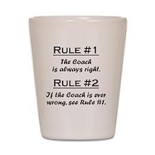 Rule Coach Shot Glass