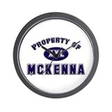 Property of mckenna Wall Clock