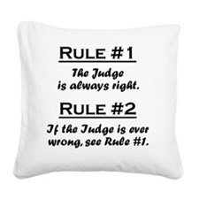 Rule Judge Square Canvas Pillow