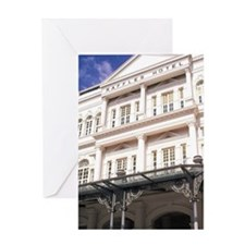 Famous Luxury Raffles Hotel in Singa Greeting Card
