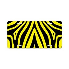 Yellow Zebra Aluminum License Plate
