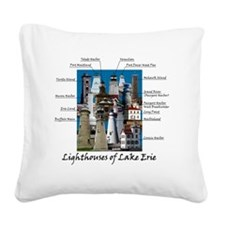 Lake Erie Designt Square Canvas Pillow
