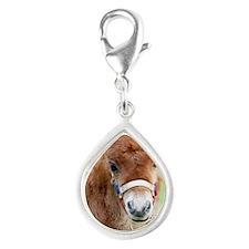 Orphaned Foal - Joy Silver Teardrop Charm