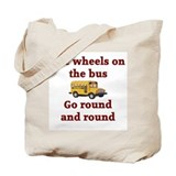 The Wheels On The Bus Tote Bag