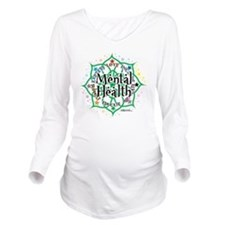 Mental-Health-Lotus Long Sleeve Maternity T-Shirt