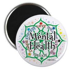 Mental-Health-Lotus Magnet