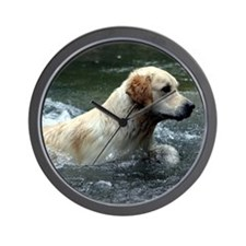 Labradoodle pillow Wall Clock