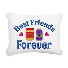 Peanut Butter Jelly BFF Rectangular Canvas Pillow