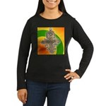 JAH LOVE Women's Long Sleeve Dark T-Shirt