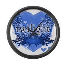 twilight forever blue copy Large Wall Clock
