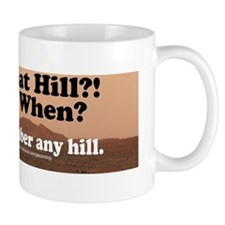over the hill bumper sticker Mug